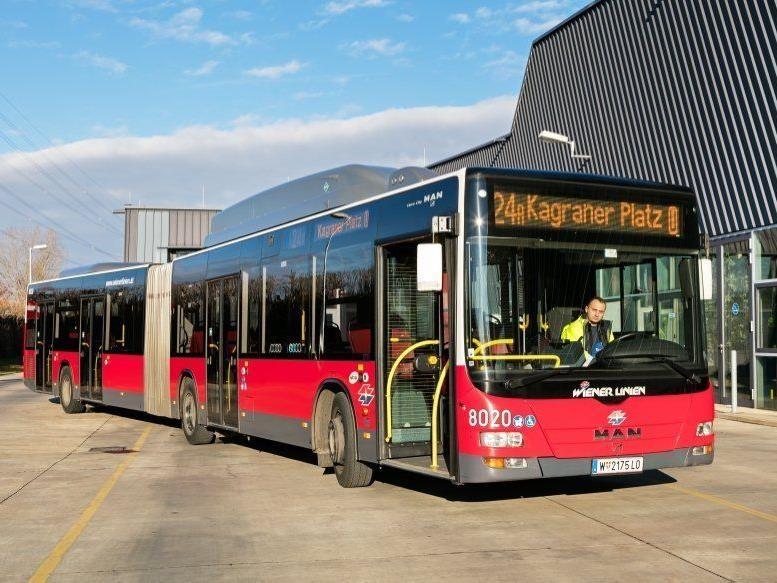 Die Busse sind die Kilometerfresser der Wiener Linien.