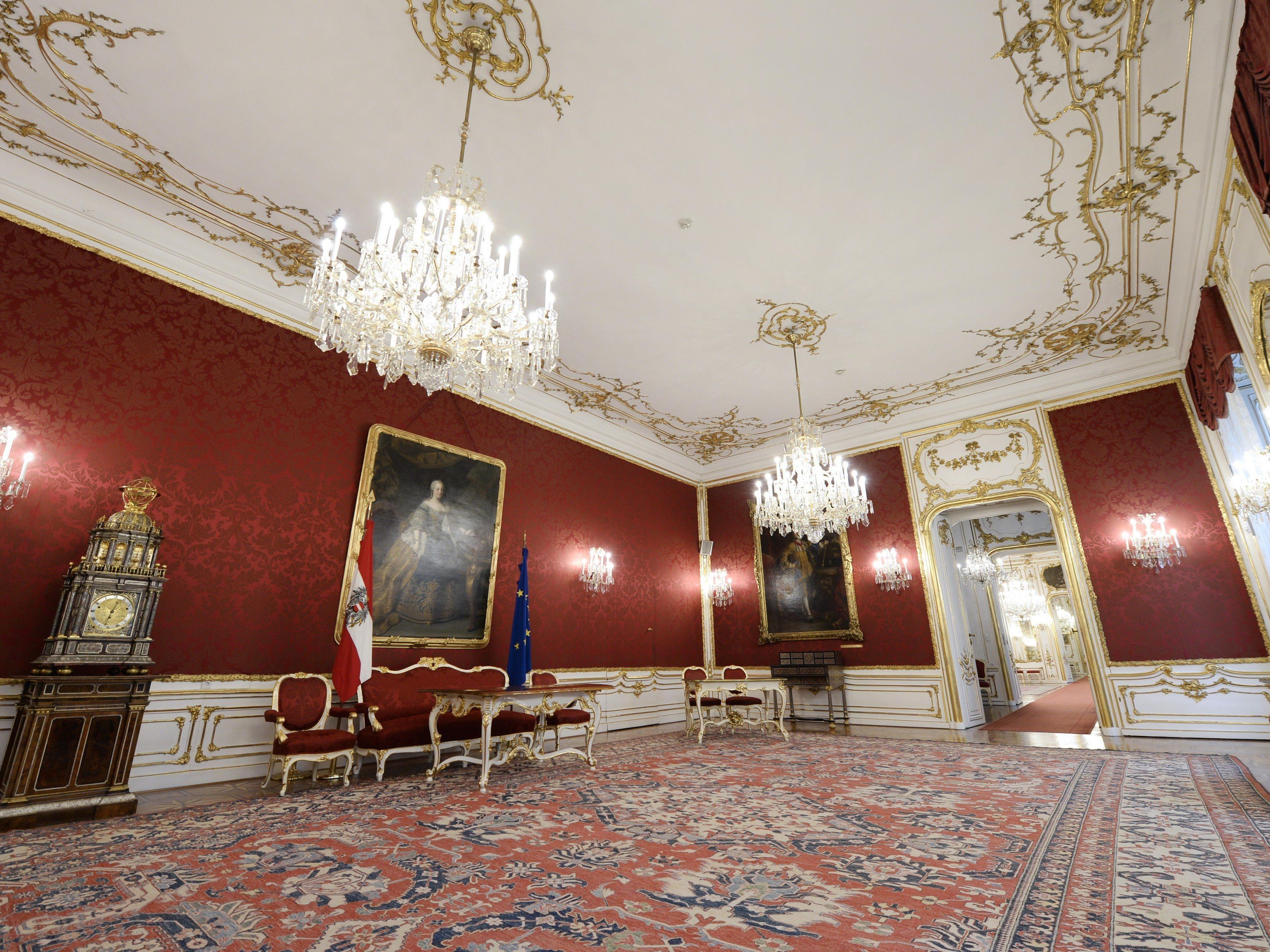 Das Maria-Theresien-Zimmer in der Wiener Hofburg.