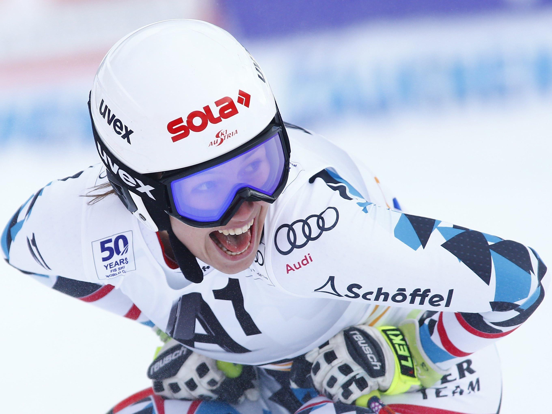 Christine Scheyer hat ihr erstes Weltcup-Rennen gewonnen.