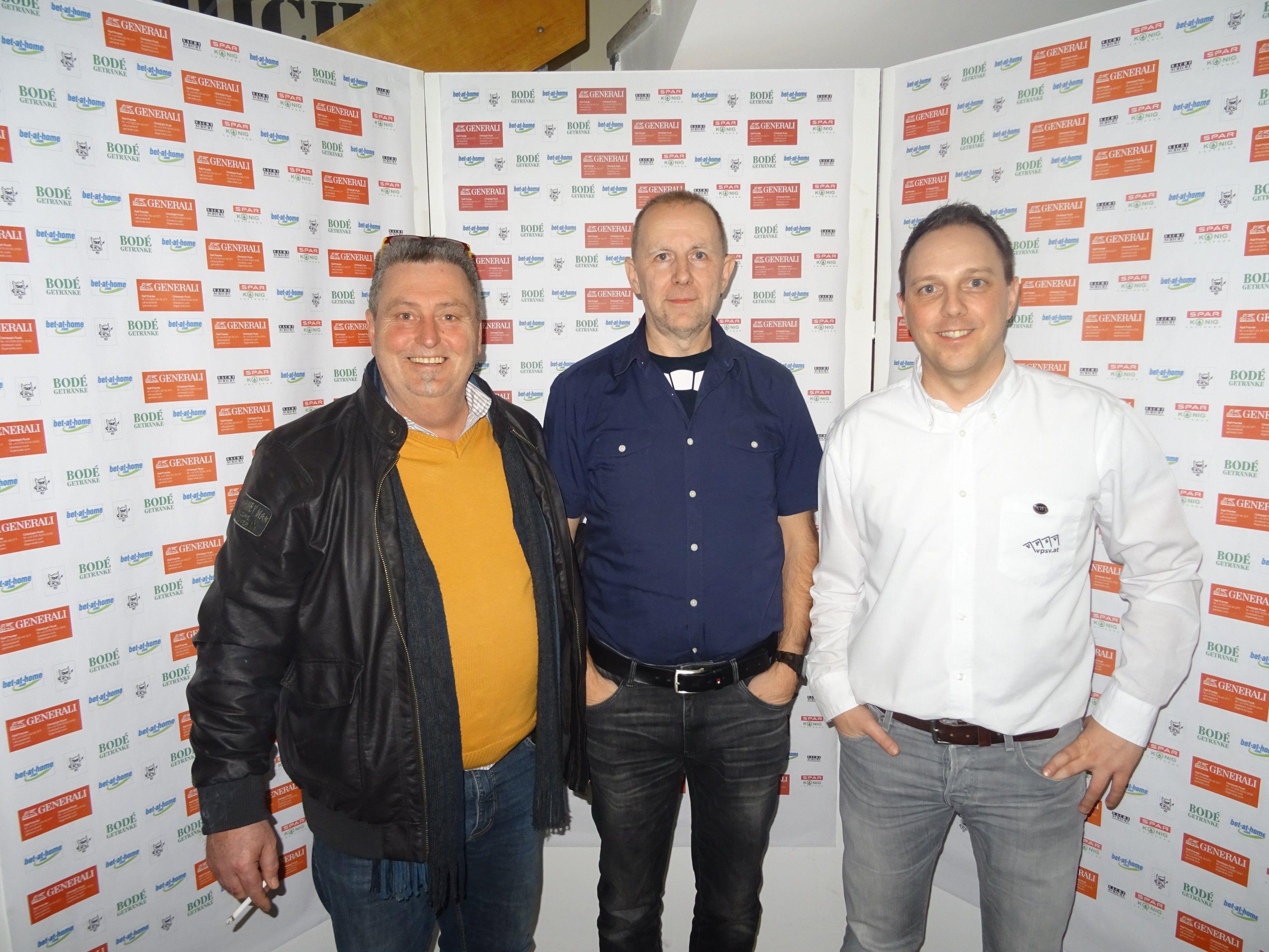 Das Siegerfoto (v.l.n.r.): Edi Meusburger, Helmut Wagner, Hanno Hollentein