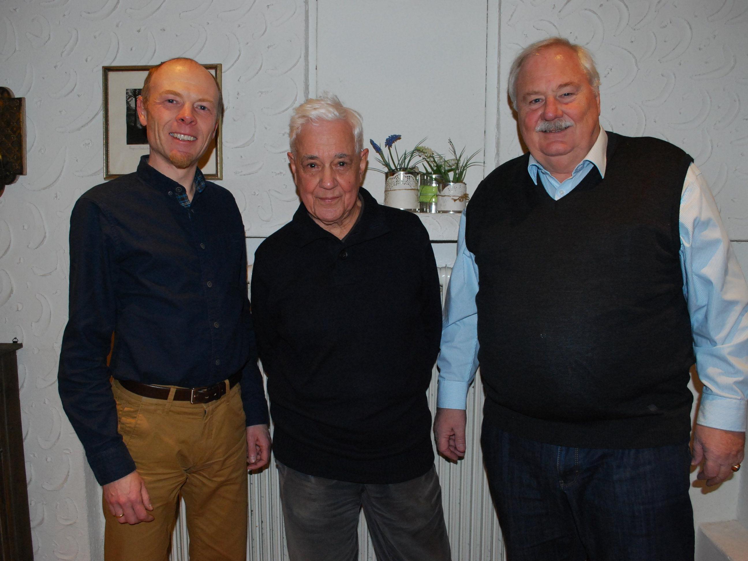 Referent Harald Rhomberg, Franz Josef Huber, Ulrich Rhomberg, Geschichtswerkstatt
