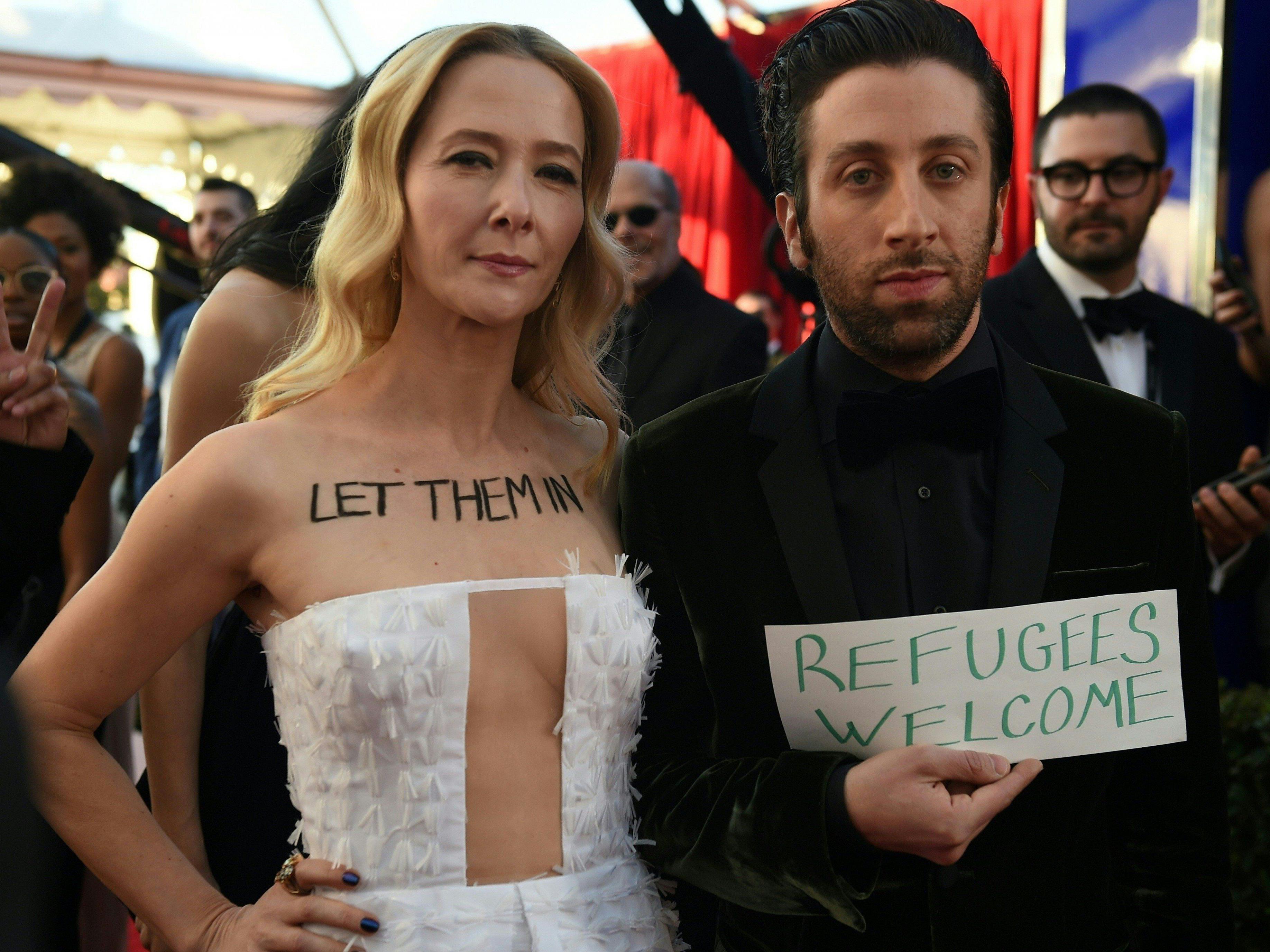 Proteste gegen Trumps Einreiseverbot dominierten die SAG-Awards