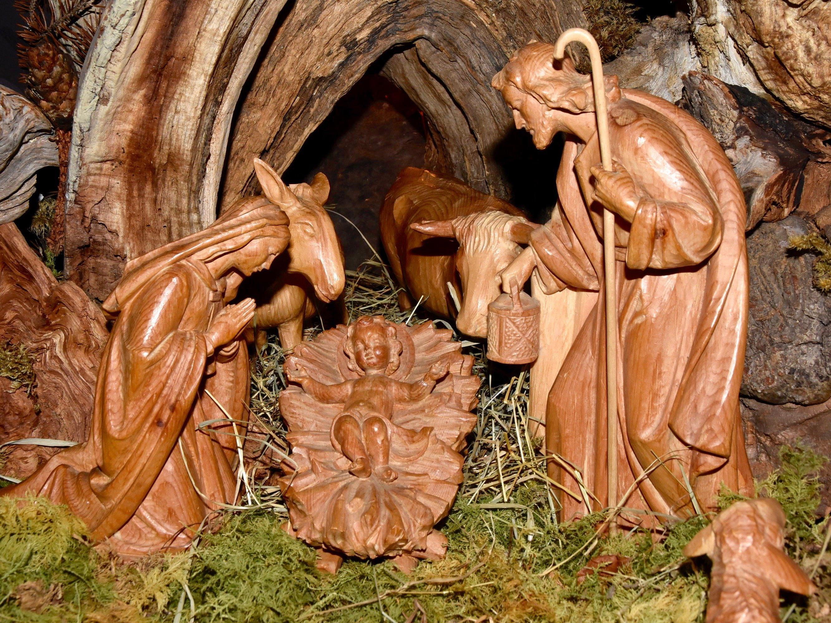 Weihnachtskrippe in der Pfarrkirche Schruns
