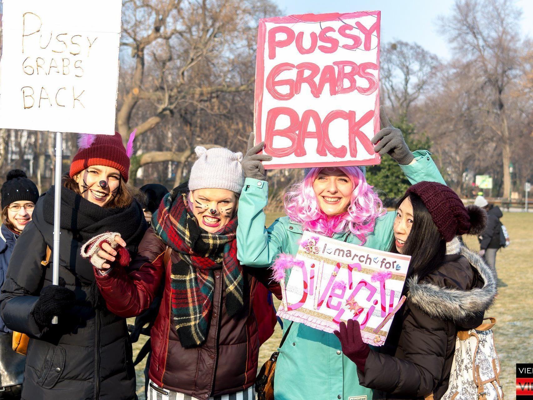 Beim Women's March in Wien.
