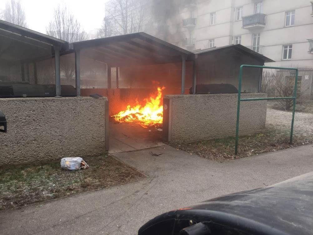 Die brennenden Container in Wien-Brigittenau