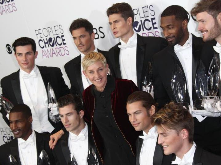 Comedian Ellen DeGeneres räumte ab.