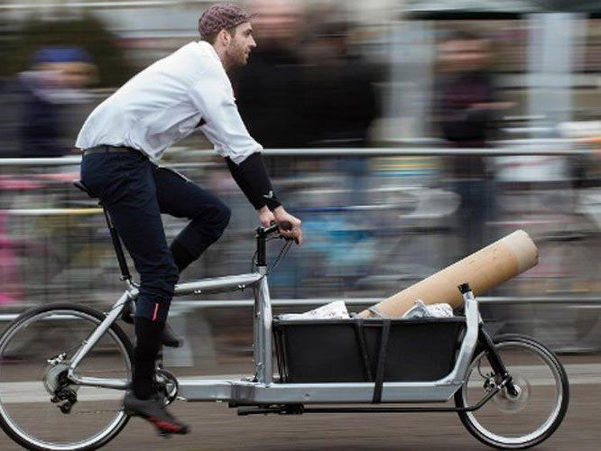 Mit einem einspurigen Lastenrad ist man flott unterwegs.