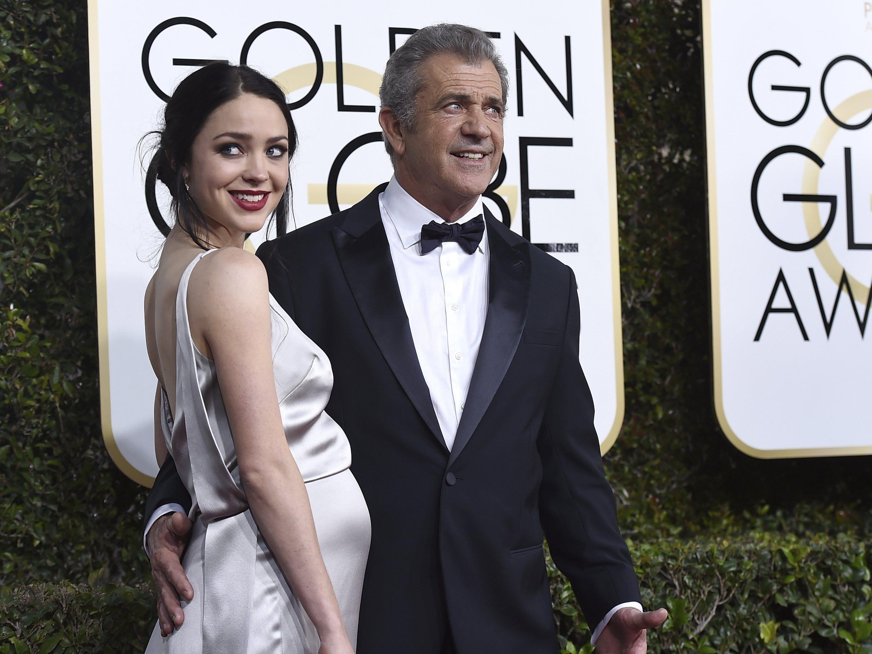 Mel Gibson und Rosalind Ross bei den Golden Globe Awards 2017