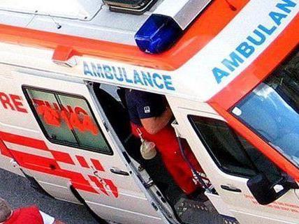 Eine Frau verletzte sich bei dem Unfall in der Donaustadt.