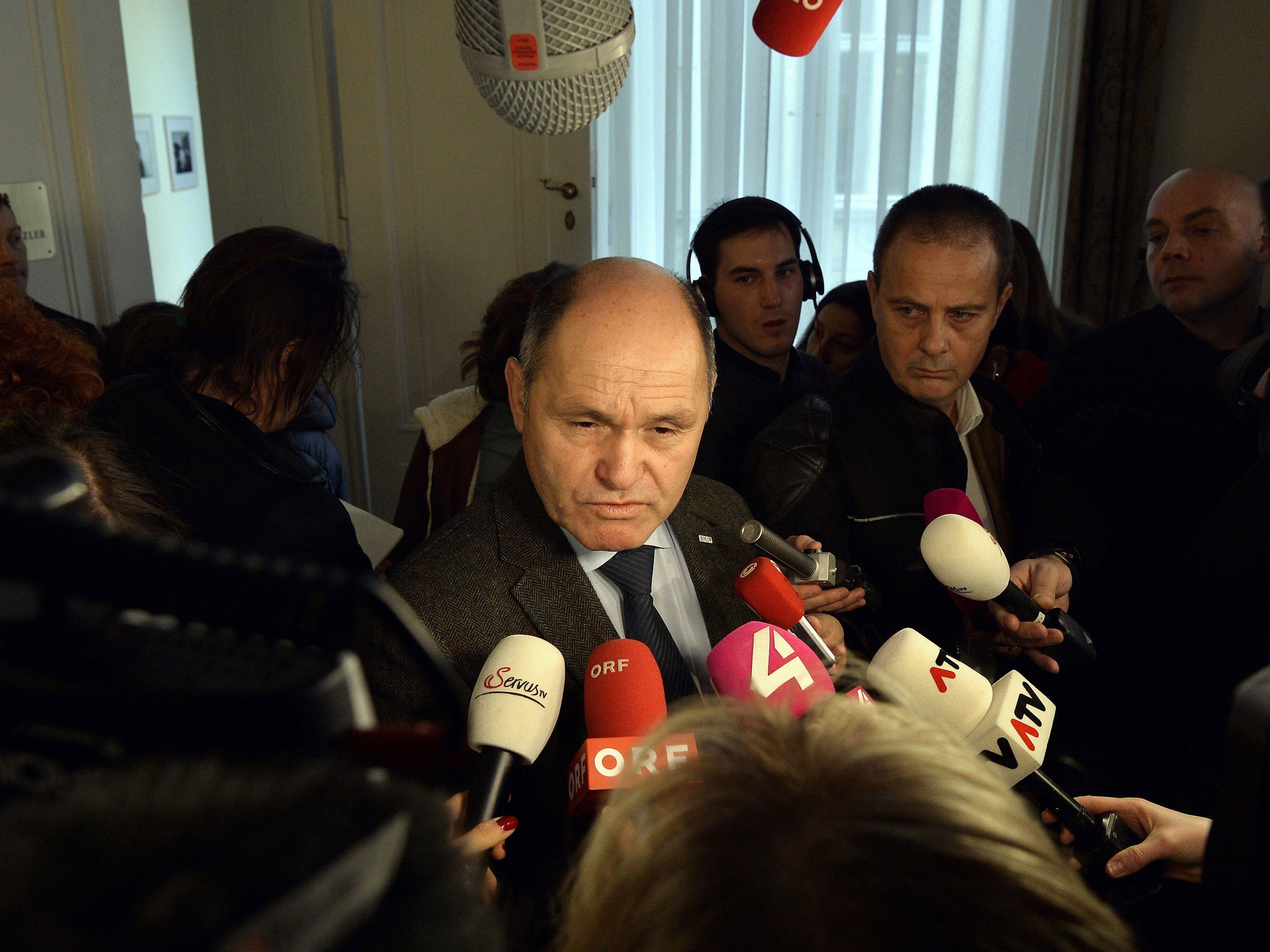 Innenminister Wolfgang Sobotka (ÖVP) beim Ministerrat