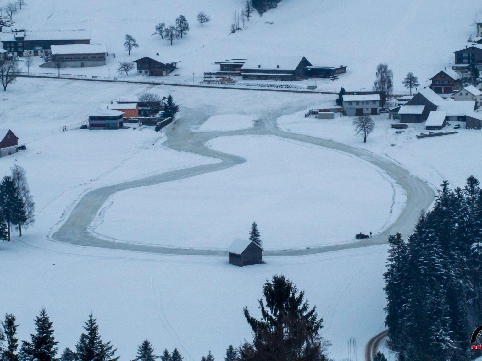 Der Motorsportclub Alberschwende hat die Strecke perfekt präpariert.