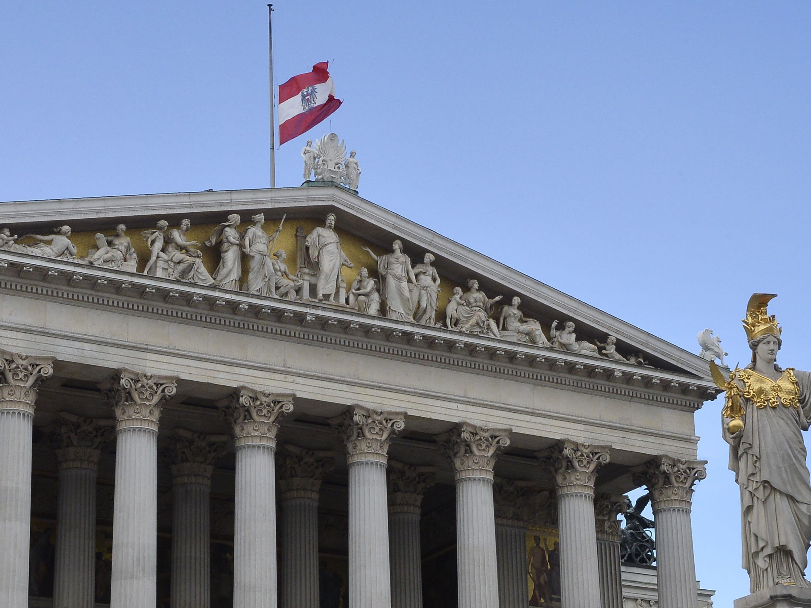 Das Parlament in Wien wird saniert.