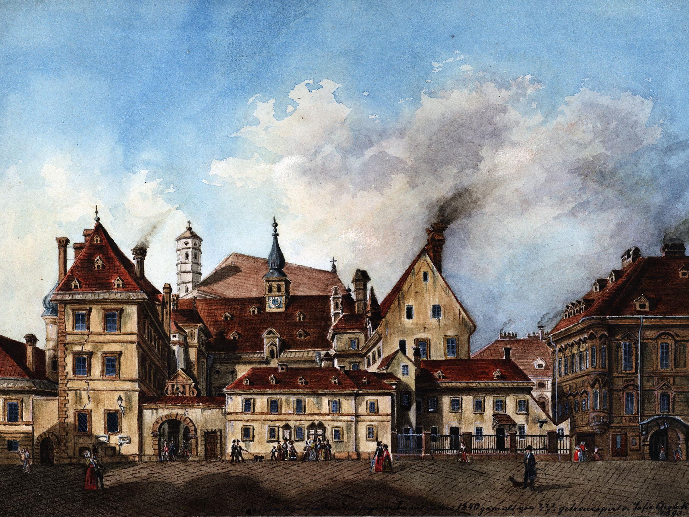 Das alte Landhaus in der Herrengasse, ein wichtiges Zentrum der Protestanten.