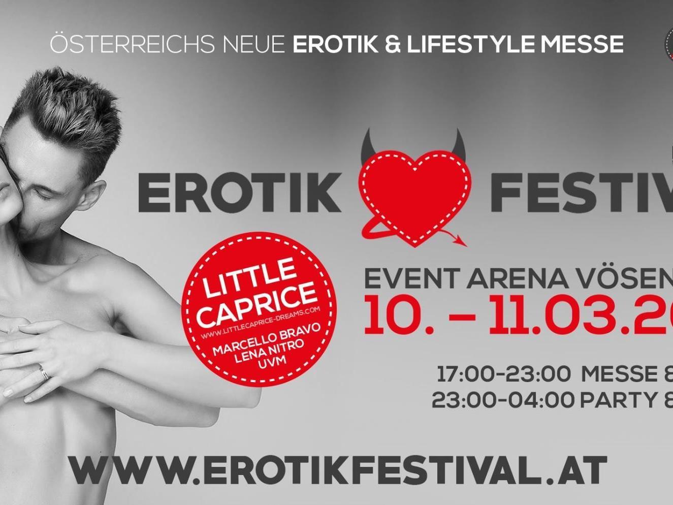 Vom 10 bis 11. März 2017 findet in der Event Arena das Erotik Festival statt.