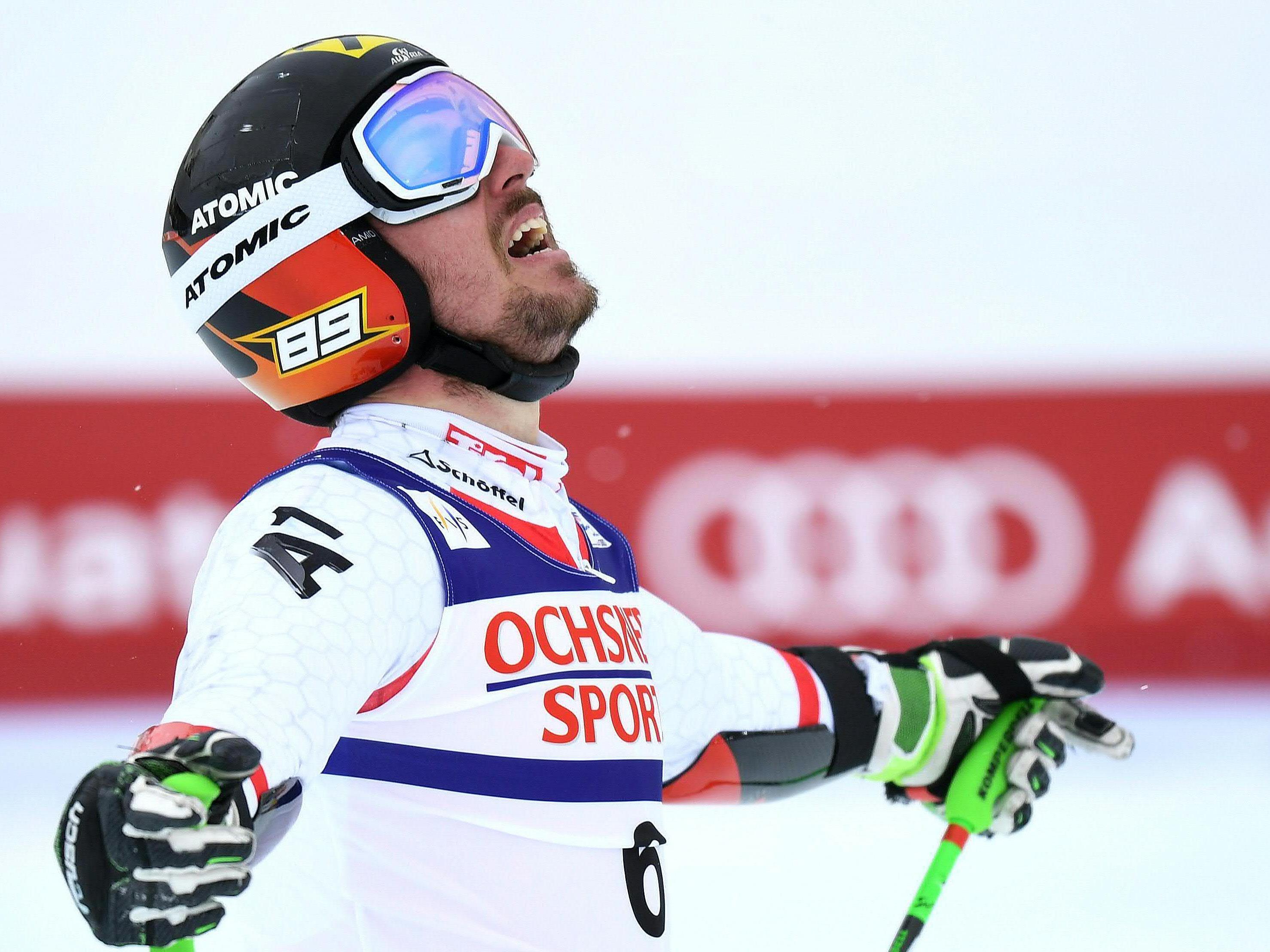Gold für Marcel Hirscher im Riesentorlauf