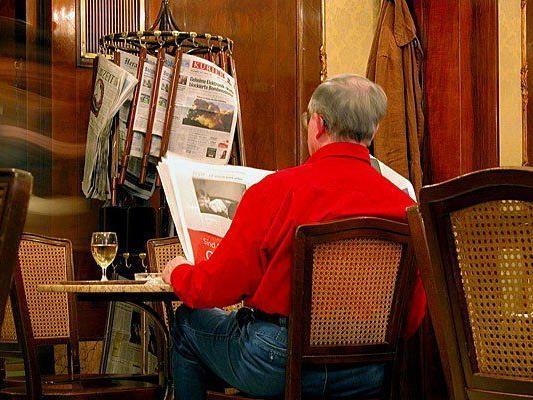 Die Wiener Kaffeehäuser laden zu einer Woche rund ums Zeitunglesen