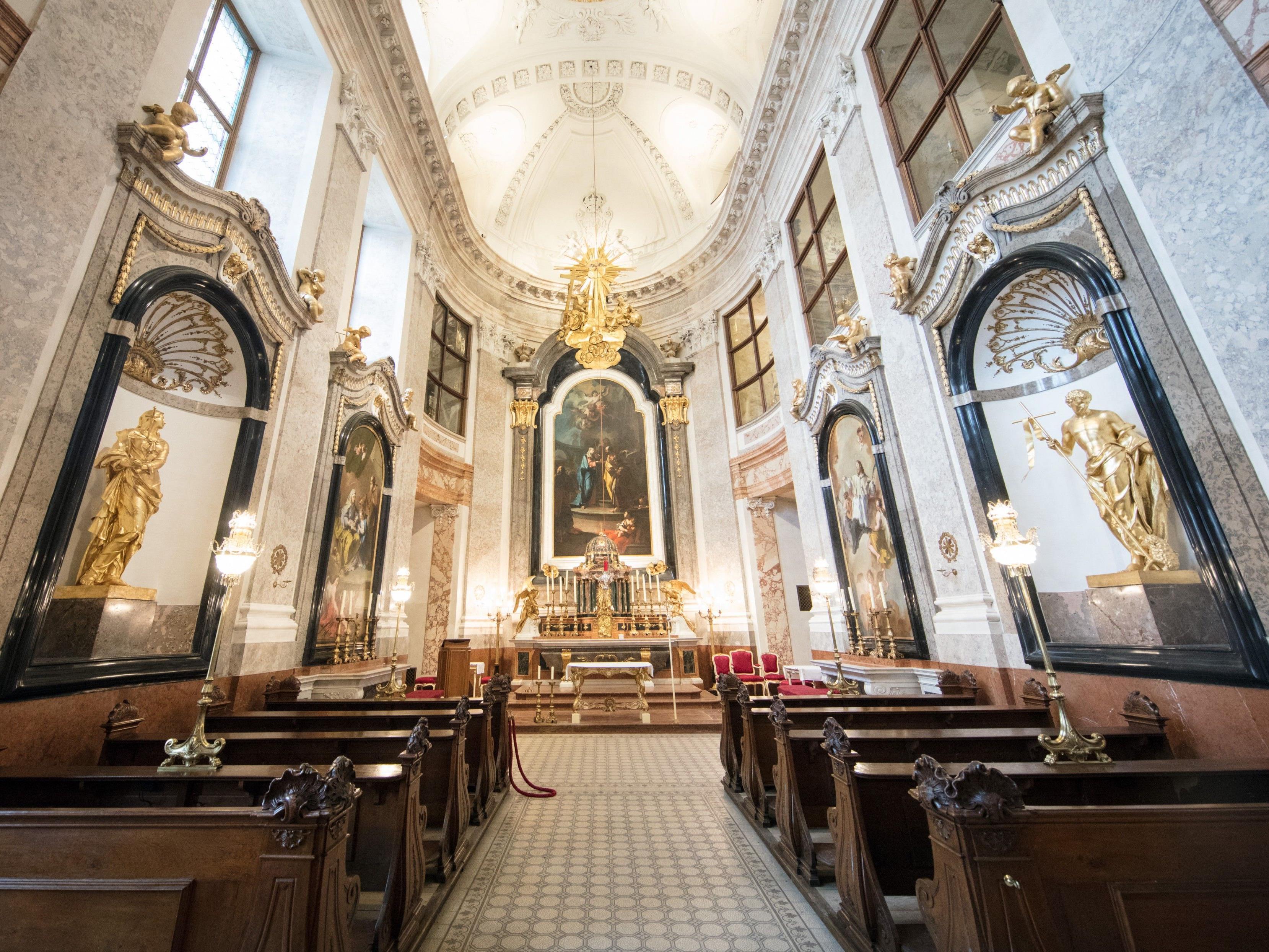 So sieht die neue restaurierte Schlosskapelle Schönbrunn aus