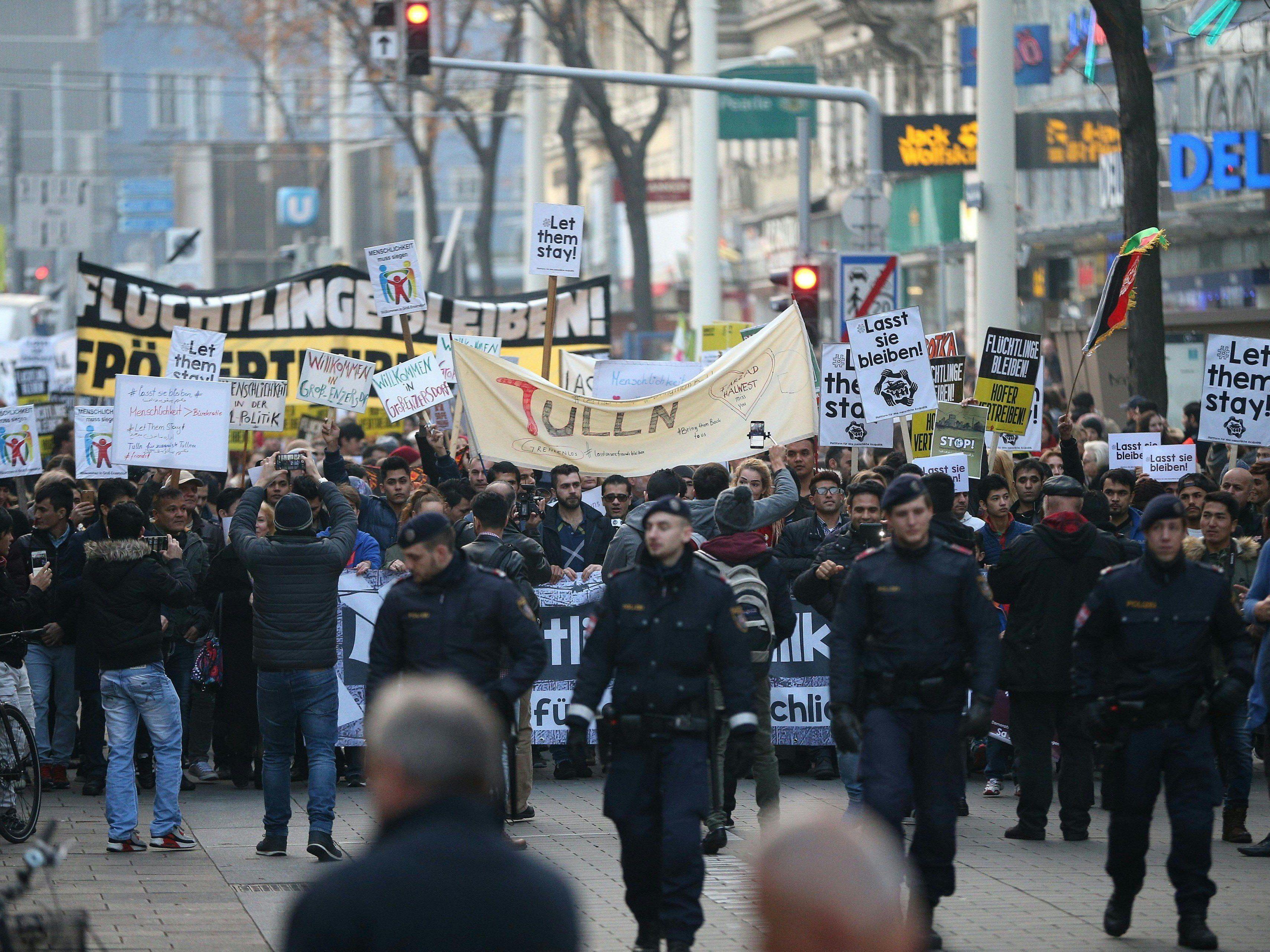 Innenminister Sobotka will eine Einschränkung des Demonstrationsrechts