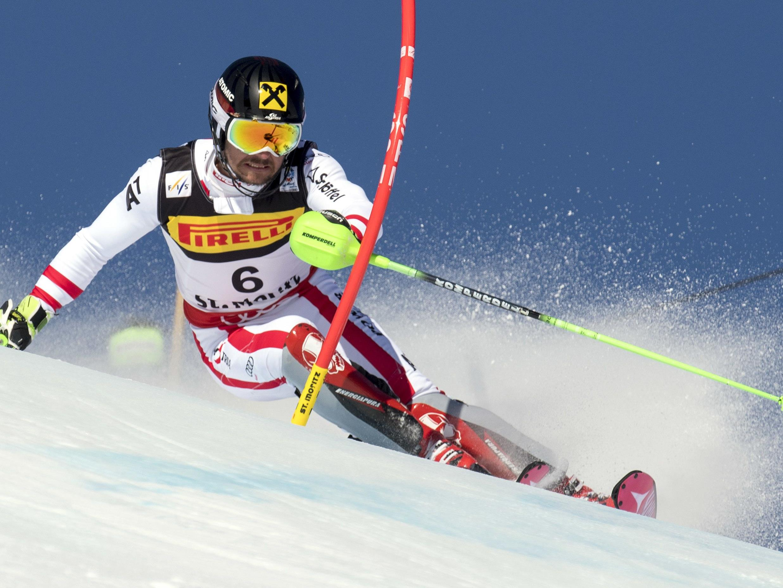 Marcel Hirscher erreichte beim Herren-Slalom der Ski-WM den 1. Platz.