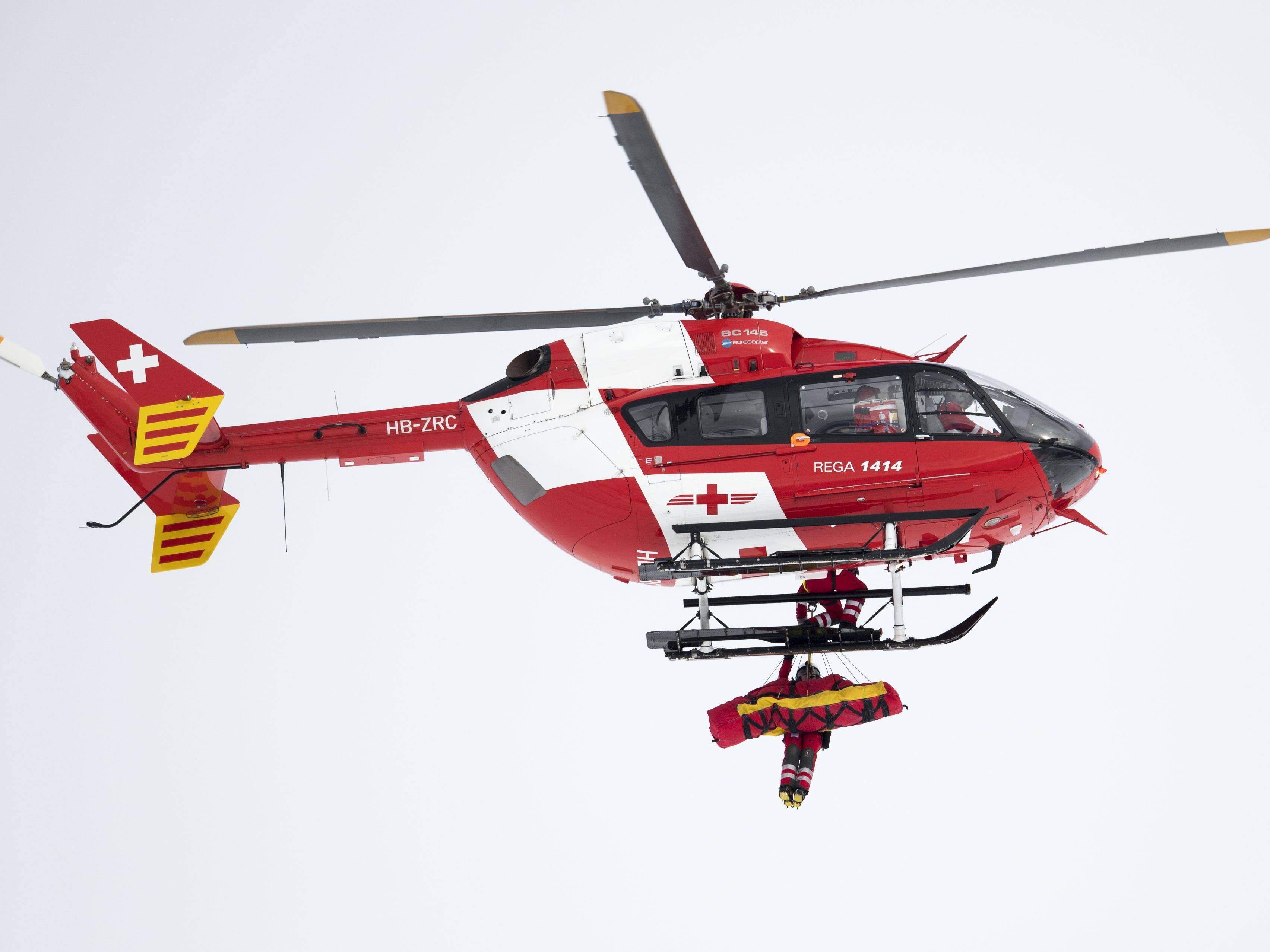 Mirjam Puchner wurde mit dem Hubschrauber abtransportiert.