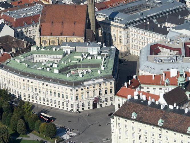 Mehr Schutzmaßnahmen für Wiener Regierungsviertel am Ballhausplatz.