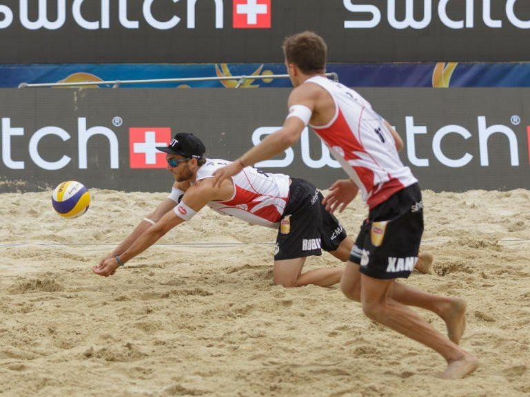 Beachvolleyball-Action heuer mitten in Wien.