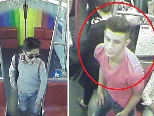 Diese Jugendlichen sollen eine Glasscheibe in einer U-Bahn-Station eingeschlagen haben.