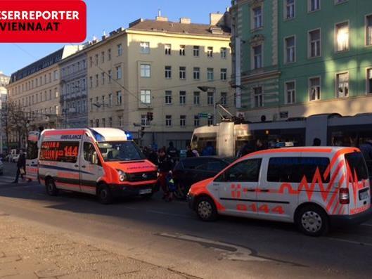 Unfall auf der Alserbachstraße.