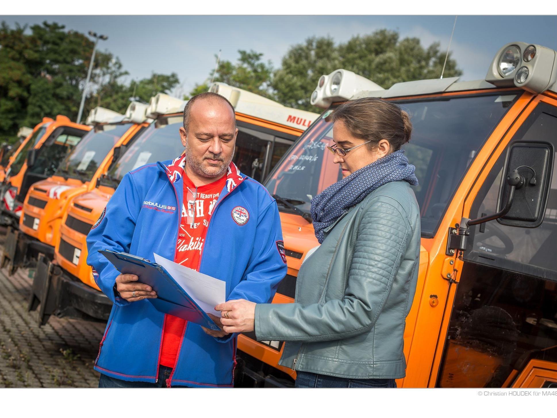 MA 48: Verkauf gebrauchter Fahrzeuge, Geräte und Mulden