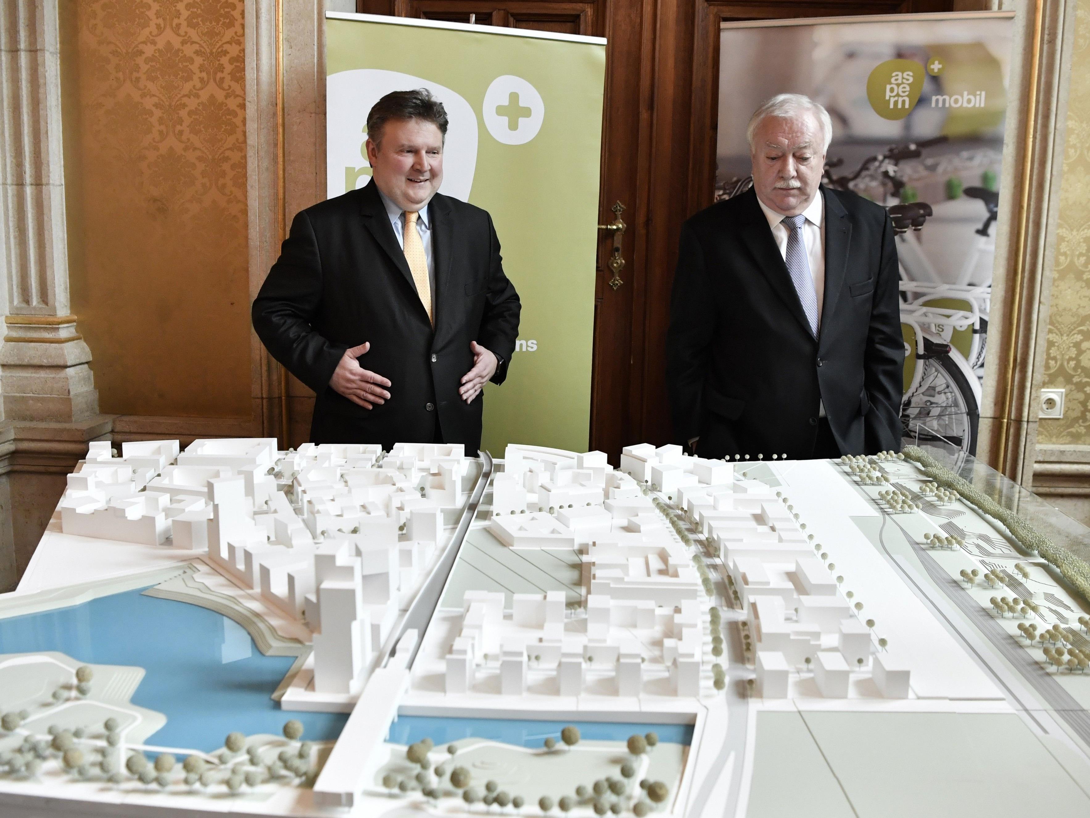In der Seestadt Aspern wird weiter gebaut.
