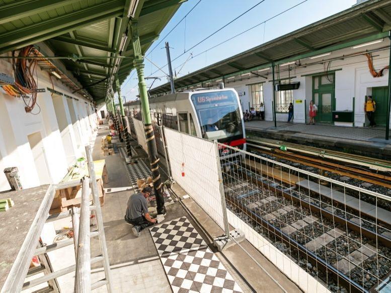 Die U6-Station Währinger Straße wird weiter saniert.