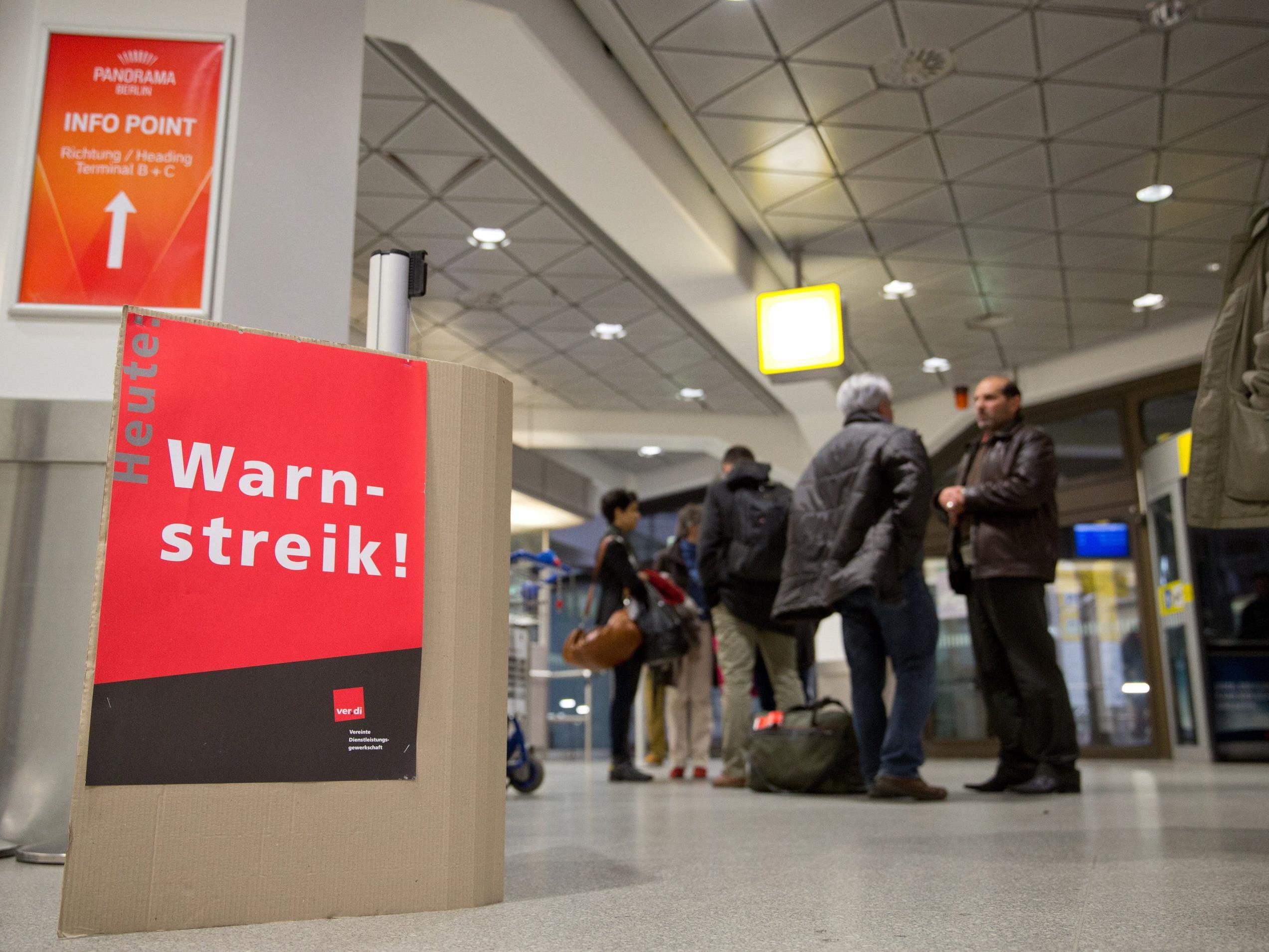 Am Freitag fallen Flüge von Wien nach Berlin und retour aus.