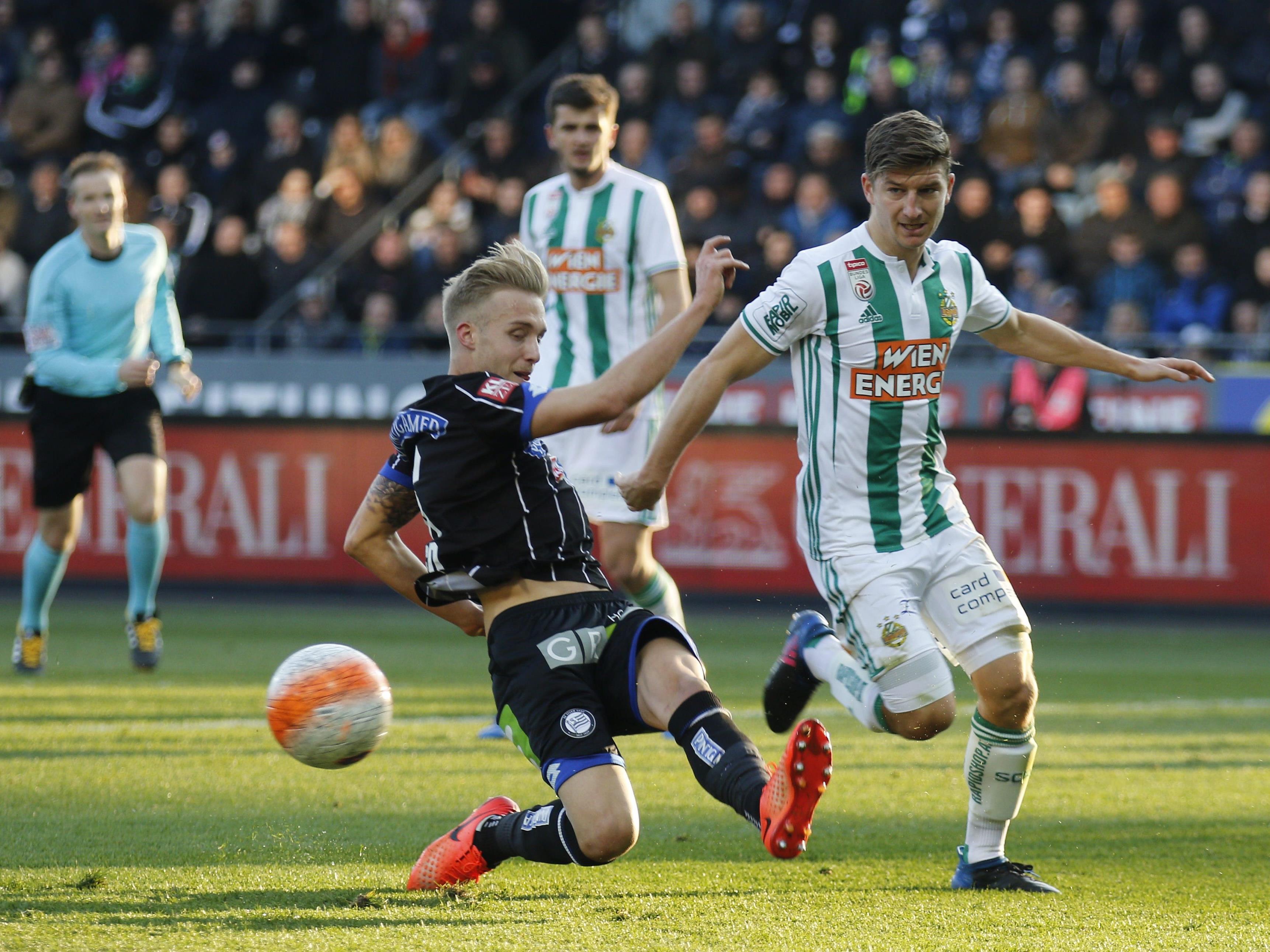 Rapid verlor mit 1:2 bei Sturm Graz.
