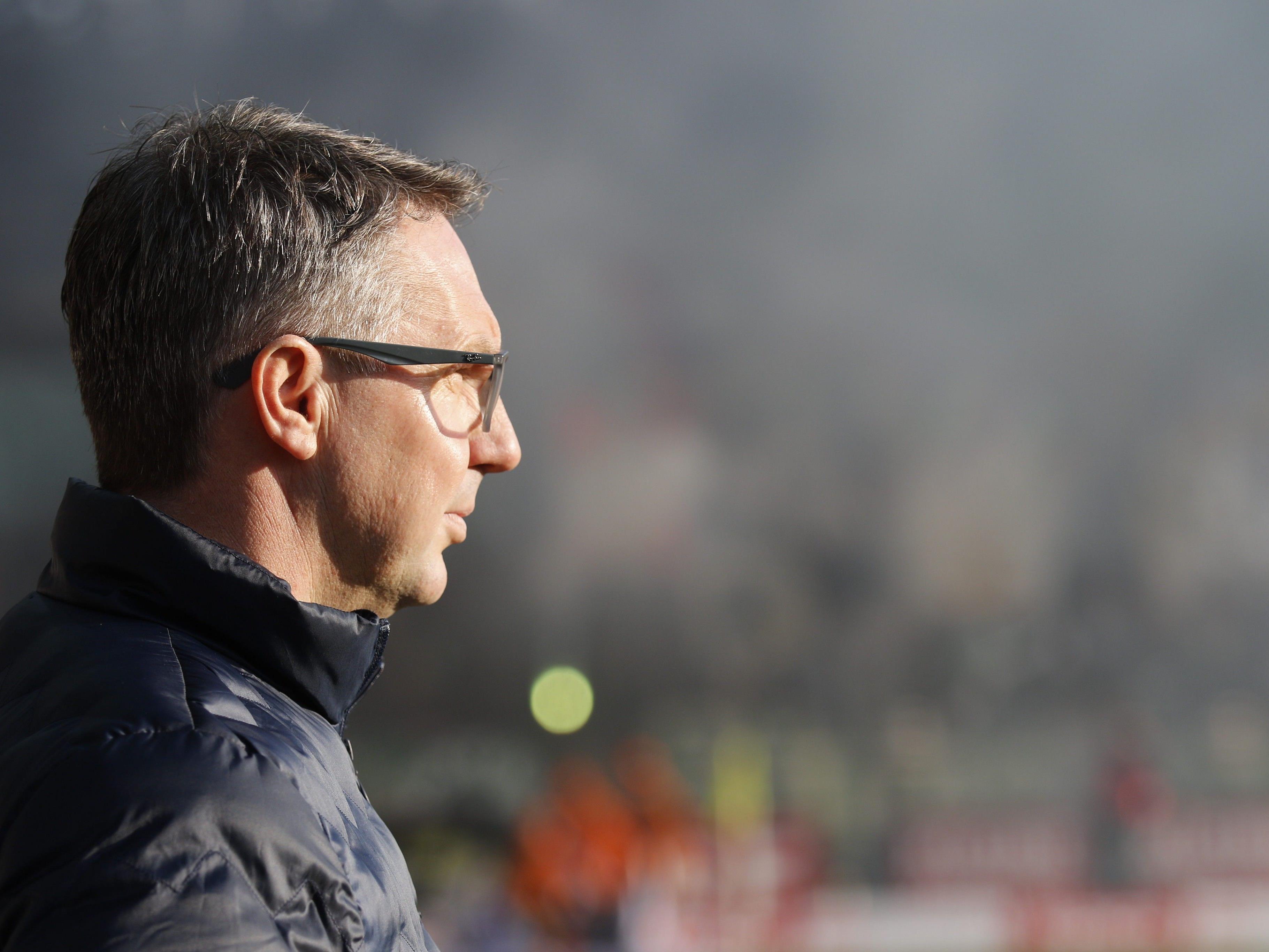 Rapid-Trainer Damir Canadi war nach dem 1:1 gegen Mattersburg angespannt.