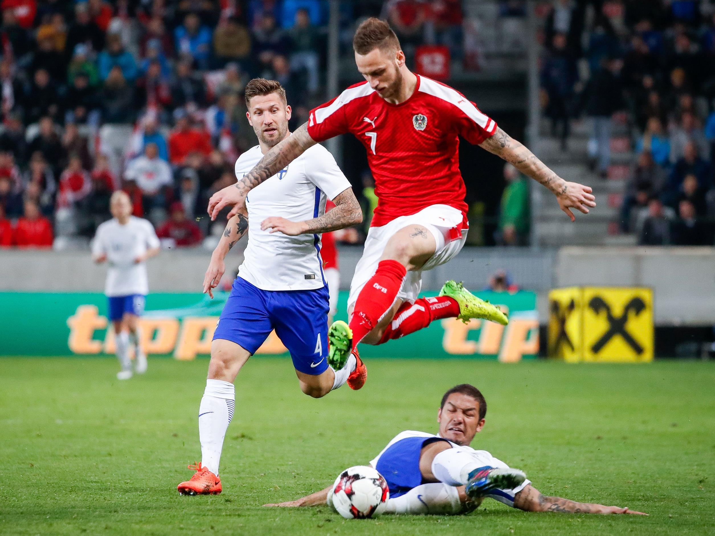 Österreich und Finnland trennten sich im Länderspiel mit 1:1.