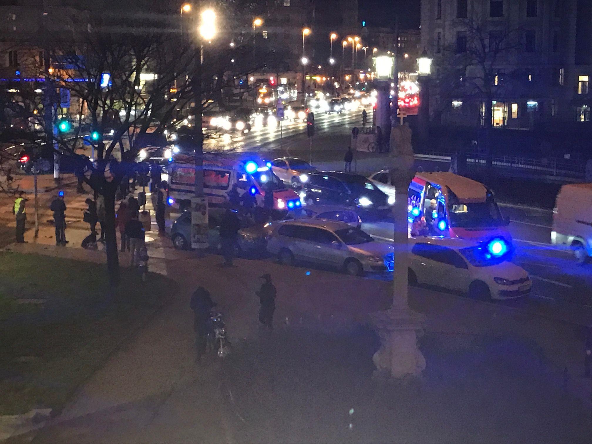 Bei dem Unfall in der Wiener City wurden sechs Menschen verletzt.
