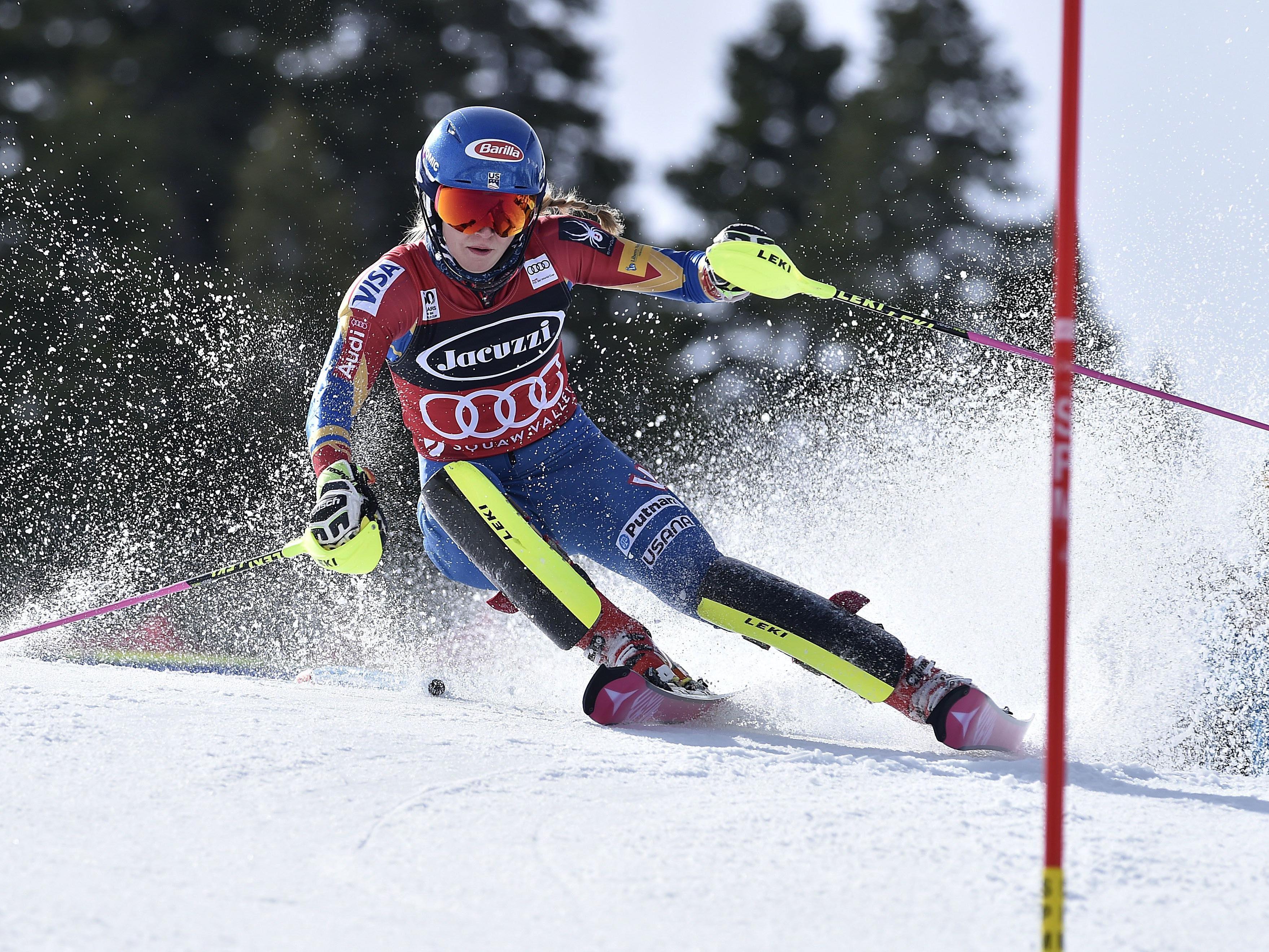 Mikaela Shiffrin sicherte sich bereits heute die kleine Kristallkugel im Slalom.