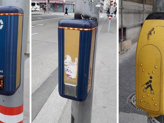 """Die verschiedenen """"Kästchen"""" an den Wiener Ampelanlagen sorgen für manche Verwirrung"""