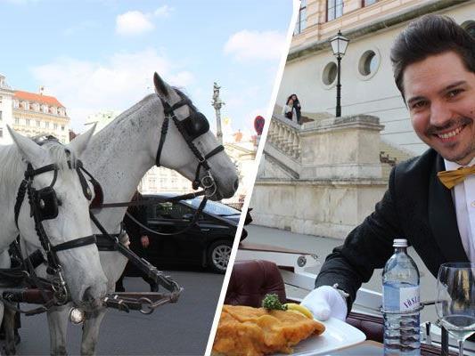 Mit dem Fiaker fahren und dabei Wiener Spezialitäten genießen - VIENNA.at machte den Test