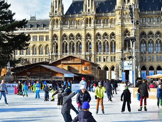 Noch bis 12. März ist der Wiener Eistraum geöffnet.