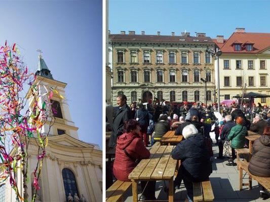 Beim Kalvarienbergfest in Wien-Hernals