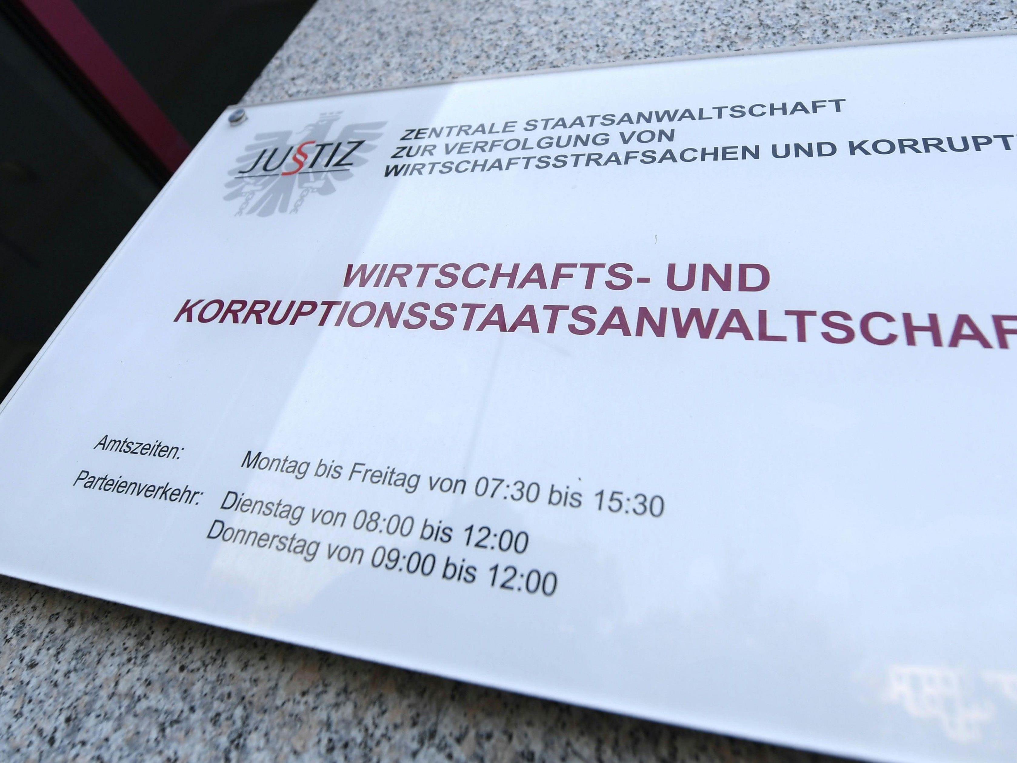 Bei der Wirtschafts- und Korruptionsstaatsanwaltschaft gelangte ein Geständnis ein