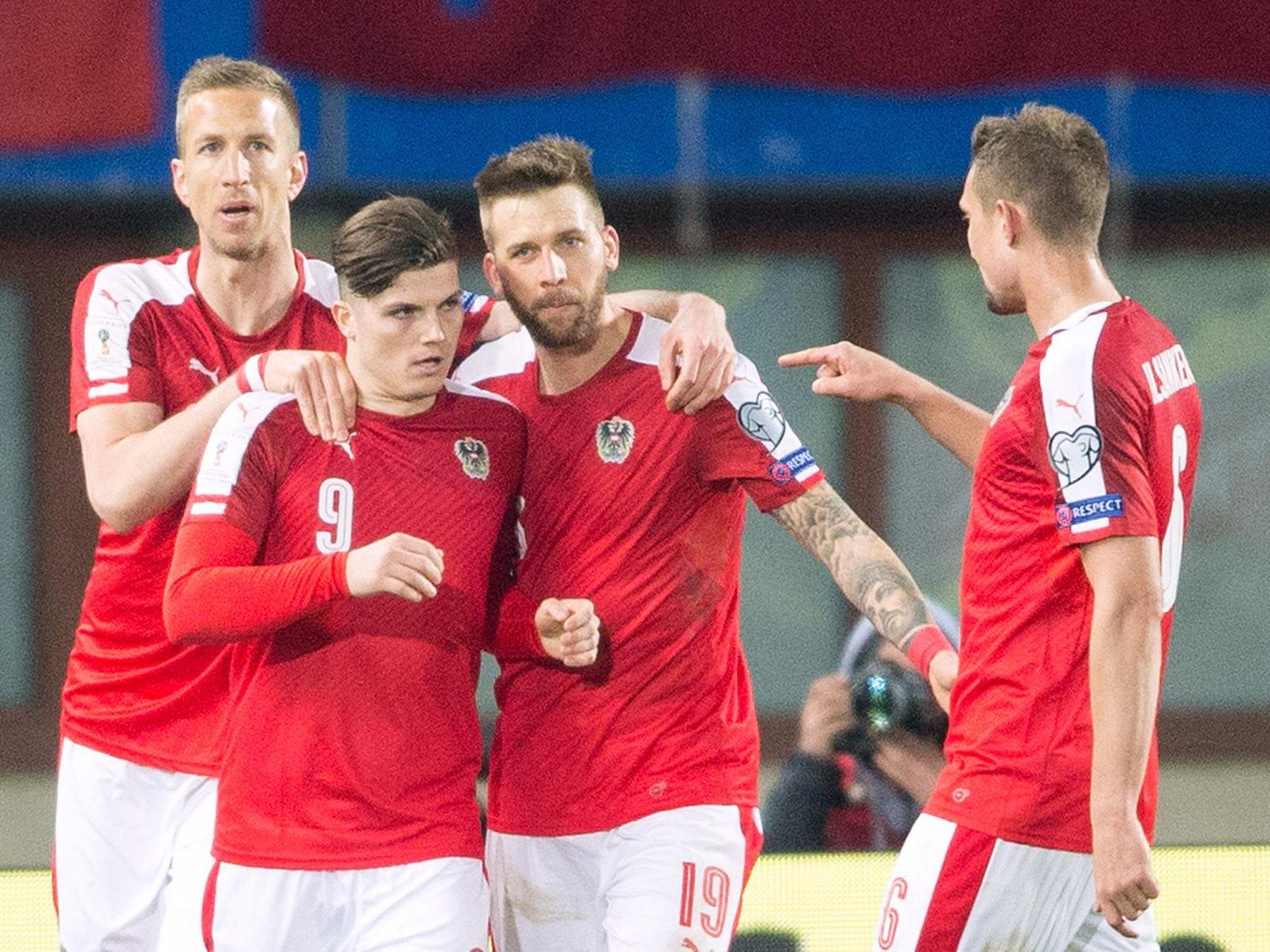 Das ÖFB-Team testet Dienstagabend gegen Finnland.