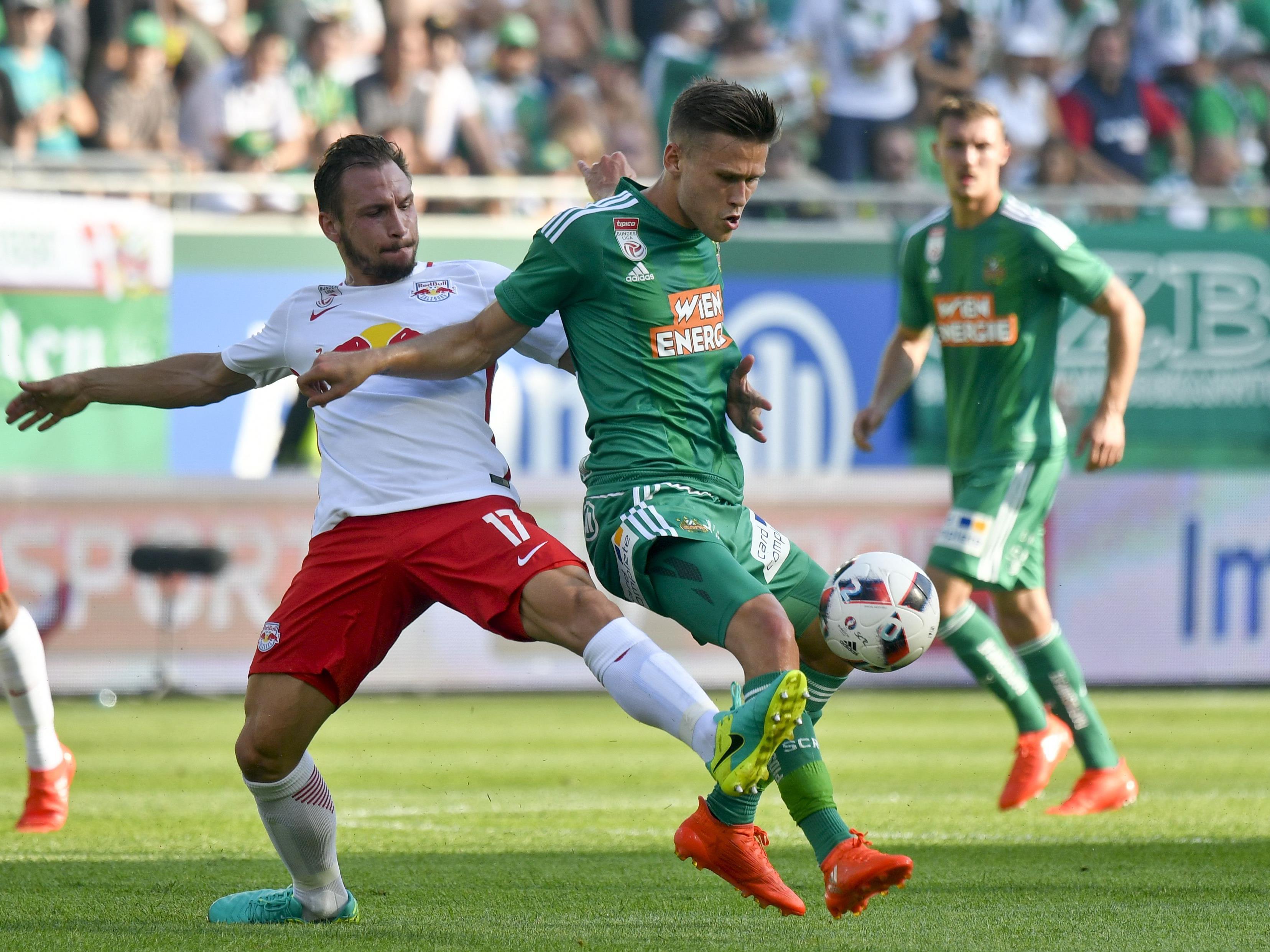 LIVE-Ticker zum Spiel Rapid Wien gegen Red Bull Salzburg ab 16.30 Uhr.