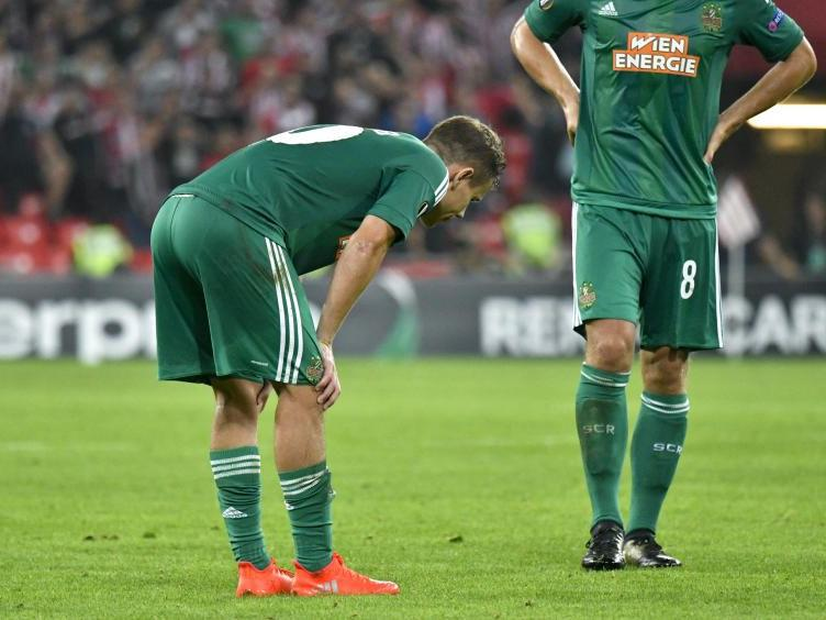 Rapid-Spieler Louis Schaub ist verletzt.