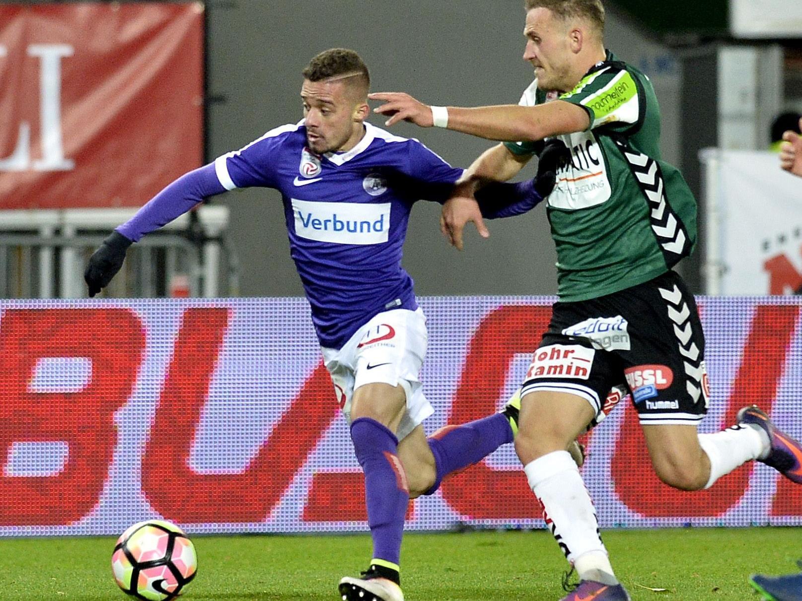 LIVE-Ticker zum Spiel SV Ried gegen Austria Wien ab 18.30 Uhr.