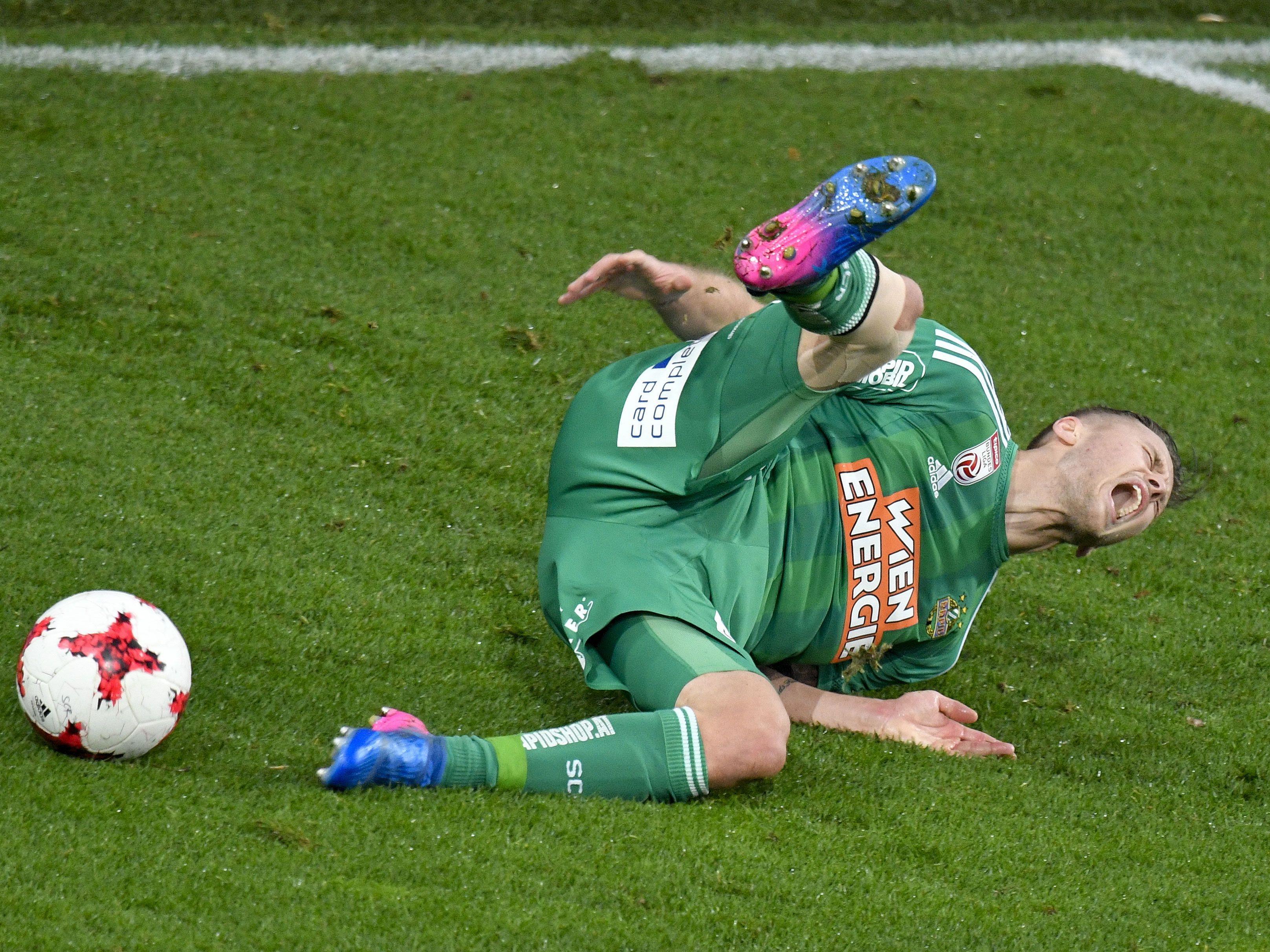 Arnor Ingvi Traustason (Rapid) ist am Knie verletzt