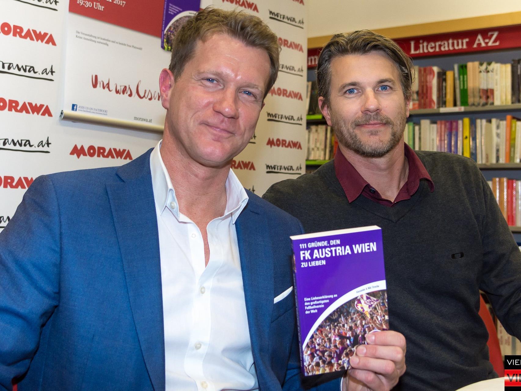Buchpräsentation - 111 Gründe, den FK Austria zu lieben - Worawa Wollzeile - 11.04.2017