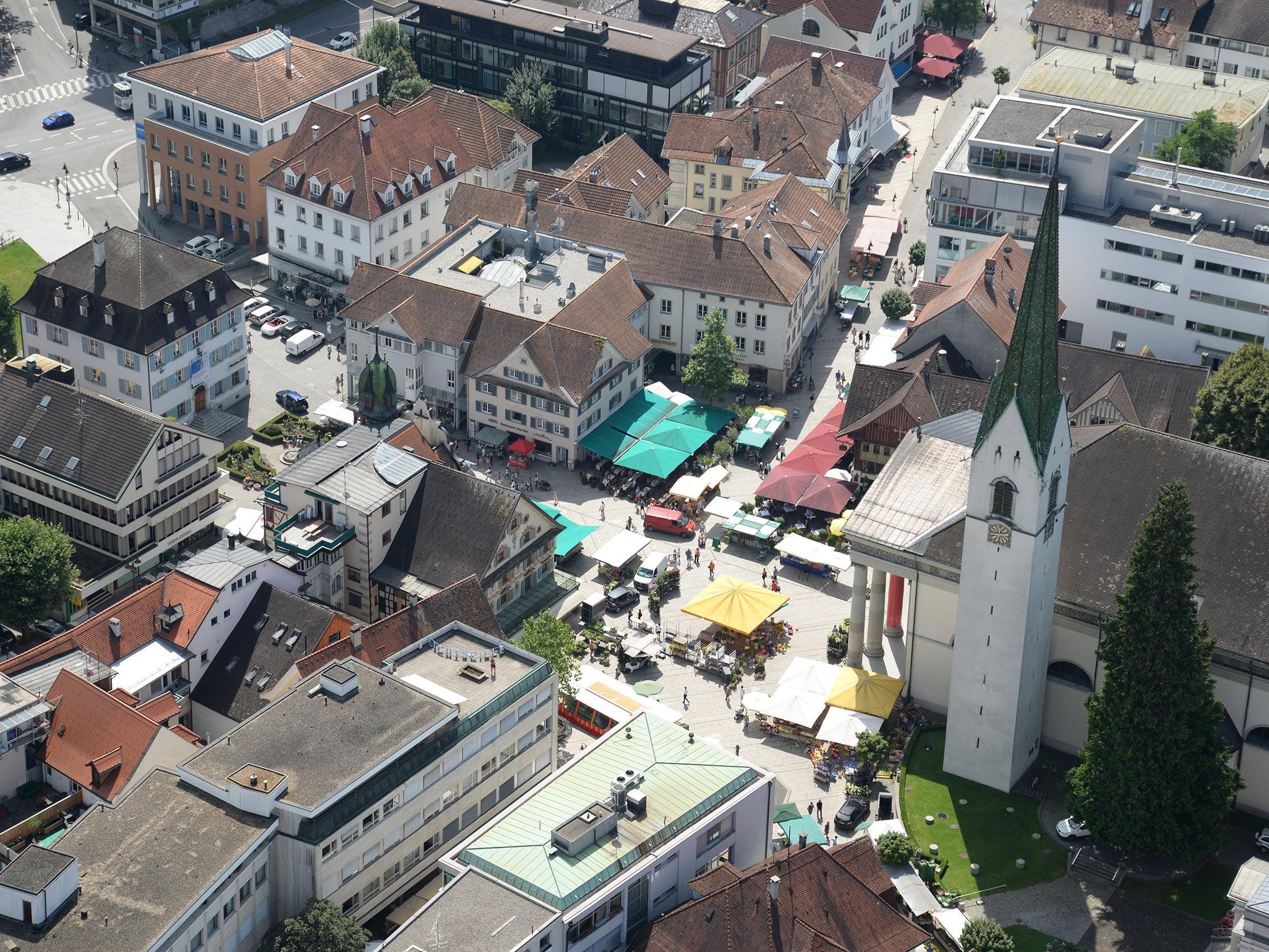 Die Fußgängerzone in Dornbirn wird erweitert.