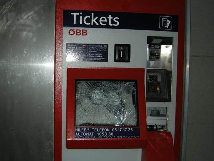 22 Fahrkartenautomaten wurden in Wien, NÖ und OÖ aufgebrochen.